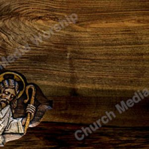 Wood plank Gentle Shepherd Christian Worship Background. High quality worship images for use to spread the Gospel and enhance the worship experience.