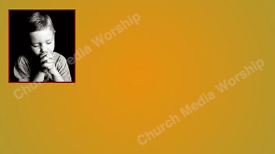 Child praying V1 yellow Christian Worship Background. High quality worship images for use to spread the Gospel and enhance the worship experience.