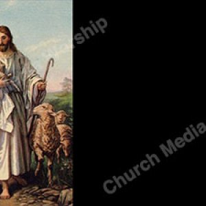 Gentle Shepherd Painting Christian Worship Background. High quality worship images for use to spread the Gospel and enhance the worship experience.