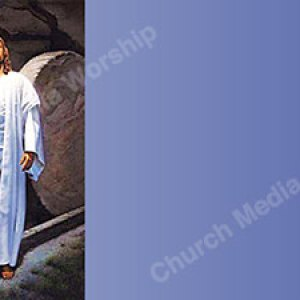 Stone rolled away V2 light purple Christian Worship Background. High quality worship images for use to spread the Gospel and enhance the worship experience.