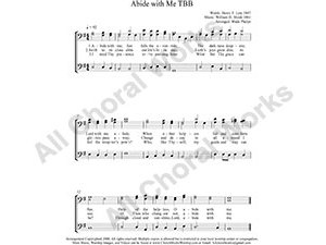 Abide with Me Male Choir Sheet Music TBB 3-part Make unlimited copies of sheet music and the practice music.