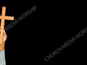 African American child holding wood cross - black Christian Worship Background. High quality worship images for use to spread the Gospel and enhance the worship experience.