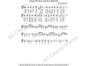 Angels We have Heard on High Female Choir Sheet Music SA 2-part Make unlimited copies of sheet music and the practice music.