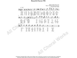 Beautiful Savior Male Choir Sheet Music TB 2-part Make unlimited copies of sheet music and the practice music.