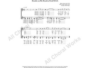 Breathe On Me Breath of God Female Choir Sheet Music SSAA 4-part Make unlimited copies of sheet music and the practice music.