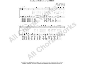 Breathe On Me Breath of God Male Choir Sheet Music TTBB 4-part Make unlimited copies of sheet music and the practice music.