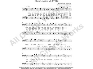 Christ Liveth in Me Male Choir Sheet Music TTBB 4-part Make unlimited copies of sheet music and the practice music.