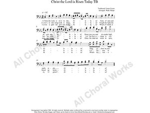 Christ the Lord is Risen Today Male Choir Sheet Music TB 2-part Make unlimited copies of sheet music and the practice music.