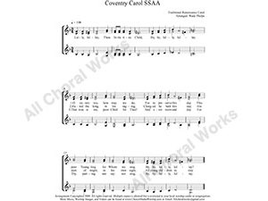Coventry Carol Female Choir Sheet Music SSAA 4-part Make unlimited copies of sheet music and the practice music.