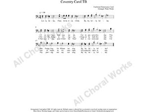 Coventry Carol Male Choir Sheet Music TB 2-part Make unlimited copies of sheet music and the practice music.