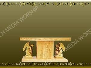 Golden Frame - Altar with Angels - Gold Christian Background Images HD