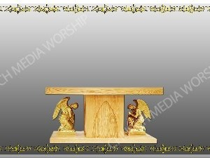Golden Frame - Altar with Angels - Silver Christian Background Images HD