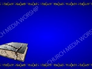 Golden Frame - Bible with Beads - Blue Christian Background Images HD