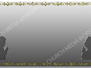 Golden Frame Children Praying Silver Christian Worship Background. High quality worship images for use to spread the Gospel and enhance the worship experience.