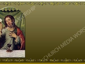 """""""Golden Frame Communion Painting Gold Christian Worship Background Golden Frame Communion Painting Gold Christian Worship Background is an image of a panting from the dark ages. It resembles Jesus breaking bread. Set to a Gold background. Author: Church Media Worship Christian Worship Backgrounds offer room for Text. Plenty of room for Bible text, Sermon notes, or hymn Lyrics. Therefore help to enhance the worship experience and spread the word of God. Inspirational and supportive to Your calling to serve. Also Visually support the message and enrich the members with a deeper understanding. Therefore Themed for different sermon topics. Then dedicated to helping you fulfill your calling to serve. 16:9 ratio in High Definition 300dpi. **Golden Frame Communion Painting Gold Christian Worship Background is limited then to your family, group, or local congregation within the same building. With this in mind, each local congregation of any denomination or satellite location must purchase their own copy."""""""