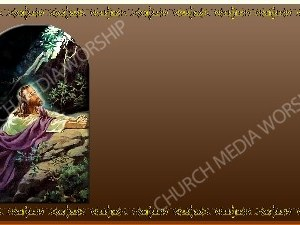 Golden Frame Gethsemane prayer Bronze Christian Worship Background. High quality worship images for use to spread the Gospel and enhance the worship experience.