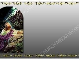 Golden Frame - Gethsemane prayer - Silver Christian Background Images HD