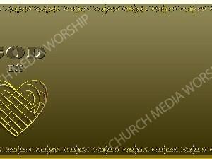 Golden Frame - God is Love - Gold Christian Background Images HD