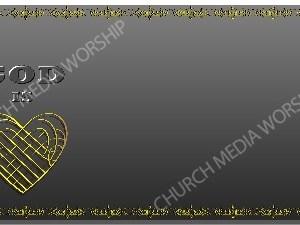 Golden Frame - God is Love - Platinum Christian Background Images HD