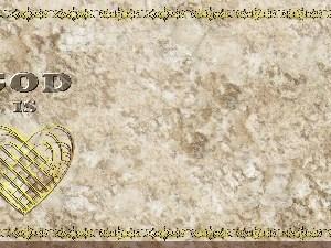 Golden Frame - God is Love - Stone Christian Background Images HD