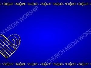 Golden Frame - Heart - Blue Christian Background Images HD