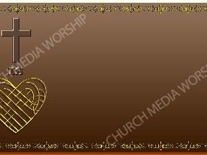 Golden Frame - Heart Cross- Bronze Christian Background Images HD