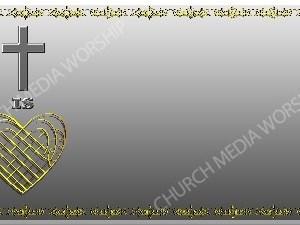 Golden Frame - Heart Cross- Silver Christian Background Images HD
