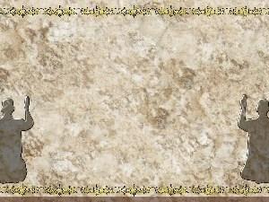 Golden Frame - Kneeling in Prayer - Stone Christian Background Images HD
