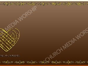 Golden Frame - Love More and More - Bronze Christian Background Images HD