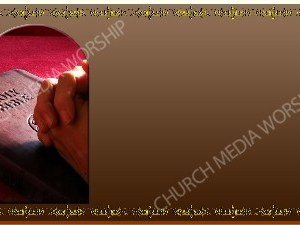 Golden Frame - Praying with the Bible - Bronze Christian Background Images HD