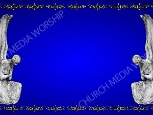 Golden Frame - Stone Angels - Blue Christian Background Images HD