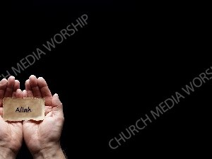 Hand holding a precious secret - Allah Christian Worship Background. High quality worship images for use to spread the Gospel and enhance the worship experience.