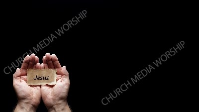 Hand holding a precious secret - Jesus Christian Worship Background. High quality worship images for use to spread the Gospel and enhance the worship experience.