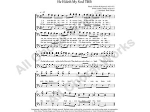 He Hideth My Soul Male Choir Sheet Music TBB 3-part Make unlimited copies of sheet music and the practice music.