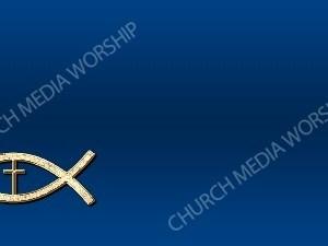 Jesus Fish Cross Symbol - Deep Blue Christian Background Images HD