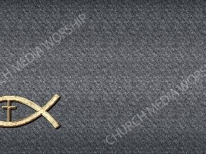 Jesus Fish Cross Symbol - Deep Grey Christian Background Images HD