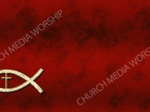 Jesus Fish Cross Symbol - Deep Red Christian Background Images HD