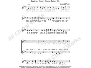 Lead Me Gently Home Father Female Choir Sheet Music SA 2-part Make unlimited copies of sheet music and the practice music.