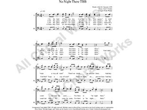 No Night There Male Choir Sheet Music TBB 3-part Make unlimited copies of sheet music and the practice music.
