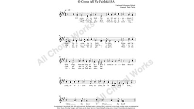 O Come all Ye Faithful Female Choir Sheet Music SA 2-part Make unlimited copies of sheet music and the practice music.