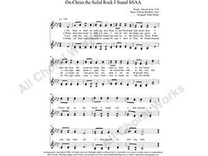 On Christ the Solid Rock I Stand Female Choir Sheet Music SSAA 4-part Make unlimited copies of sheet music and the practice music.