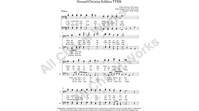 Onward Christian Soldiers Male Choir Sheet Music TTBB 4-part Make unlimited copies of sheet music and the practice music.