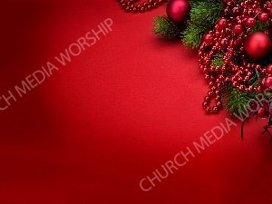 Red Christmas berries and beads Christian Worship Background. High quality worship images for use to spread the Gospel and enhance the worship experience.