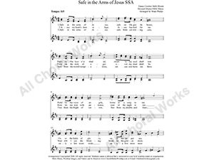 Safe in the Arms of Jesus Female Choir Sheet Music SSAA 4-part Make unlimited copies of sheet music and the practice music.