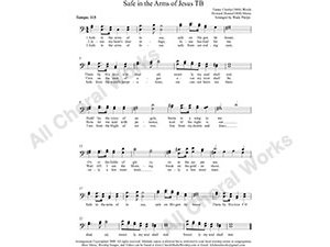 Safe in the Arms of Jesus Male Choir Sheet Music TB 2-part Make unlimited copies of sheet music and the practice music.