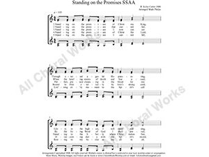 Standing on the Promises Female Choir Sheet Music SSAA 4-part Make unlimited copies of sheet music and the practice music.