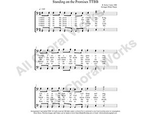 Standing on the Promises Male Choir Sheet Music TTBB 4-part Make unlimited copies of sheet music and the practice music.