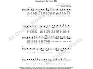 Stepping in the Light Male Choir Sheet Music TB 2-part Make unlimited copies of sheet music and the practice music.