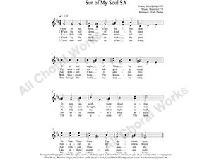 Sun of My Soul Female Choir Sheet Music SA 2-part Make unlimited copies of sheet music and the practice music.