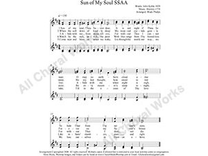 Sun of My Soul Female Choir Sheet Music SSAA 4-part Make unlimited copies of sheet music and the practice music.